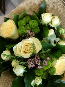 Hessian Wrapped Bouquet