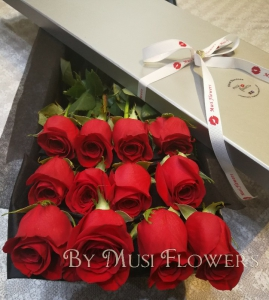 Dozen Red Rose Box
