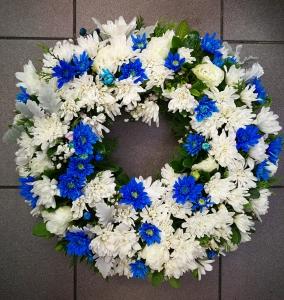 Blue&White Wreath