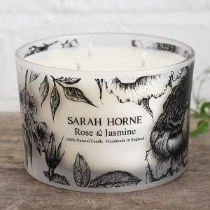 Candle 3-Wick Rose