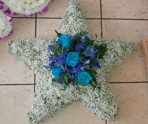Floral 5 Point Star