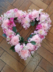 Silk Flower Open Heart