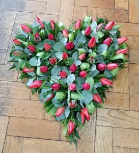 Seasonal Tulip Heart