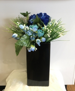 Black Ceramic Large Vase