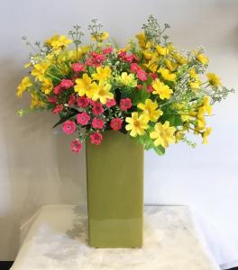 Olive Ceramic Medium Vase