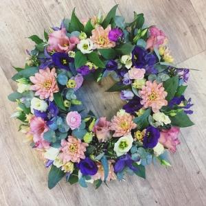 Violet & Pink Wreath