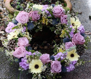 Lavender Blue Wreath