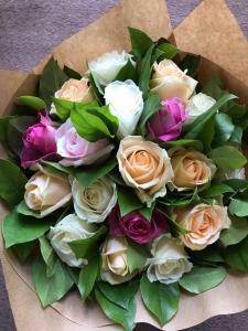 Roses pastel mix bouquet