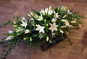 Casket Spray White Lily