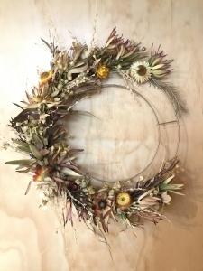 Bright Dried Wreath