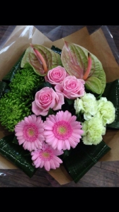 Pink And Green Handtied