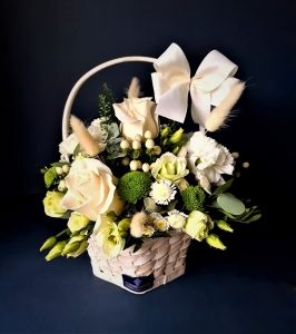 All In White Basket