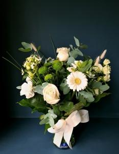All In White Vase