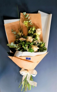 All In White Flat Bouquet