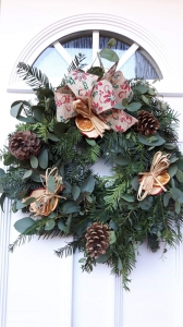 Natural Door Wreath