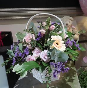 Purple & Cream Basket