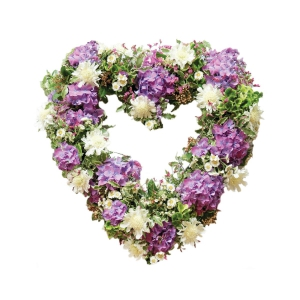 Lilac & White Open Heart