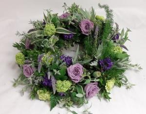 Green & Lilac Wreath