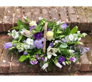 Lilac & White Basket