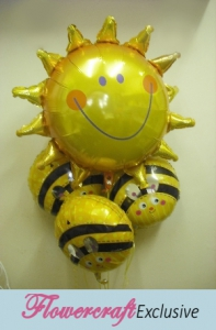 Bee Happy Balloon Bouquet