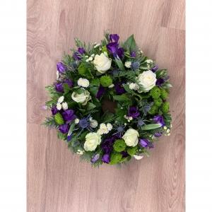 Purple Funeral Wreath