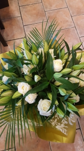 Rose And Lily Hand Tied