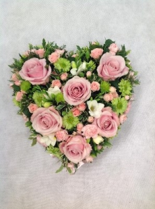Pink And Green Heart