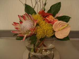 Protea Flowers In A Bowl