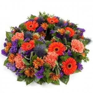 Orange And Purple Wreath
