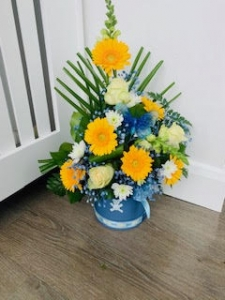 Yellow And Blue Bucket