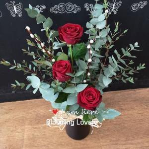 3 Red Rose Arrangement