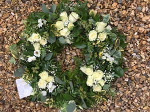 White Woodland Wreath