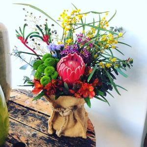 Native Jute Bag Bouquet