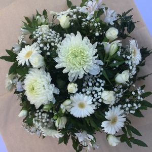 White Filled Wreath