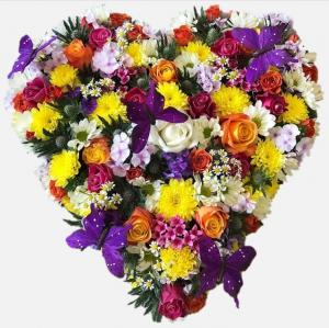 Summer Floral Heart