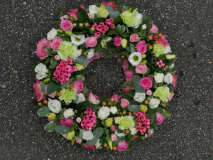Pink Mallow Wreath