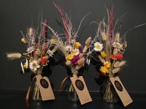 Trio Of Dried Flowers