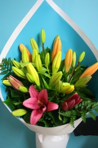 Asiatic lily bouquet