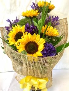 Sunflowers & Purple