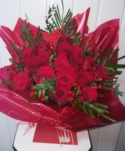 Loved With Red Roses