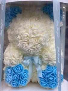 Blue Forever Rose Bear
