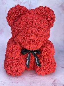 Red Forever Rose Bear