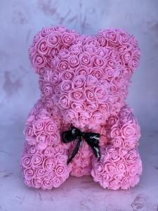 Pink Forever Rose Bear
