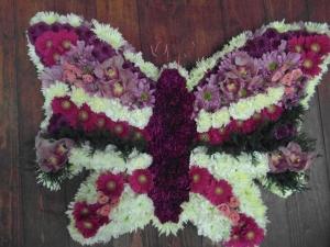 Butterfly Funeral Flowers