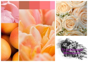 Peach, Pink Cream Bouquet