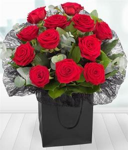 A Dozen Red Roses Gift Ba