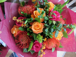 Orange And Red Hand-tied