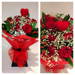 Deluxe Red Rose Handtied