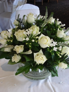 White Bouquet In Vase