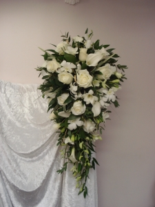 Brides Tear Drop Bouquets